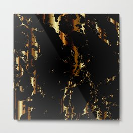 Black and Gold Marble Design Metal Print