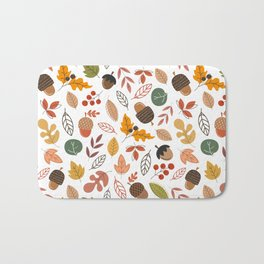 Hello Fall Pattern Bath Mat