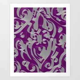 3D Ornamental Background Art Print