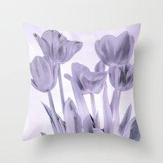Tulips (b&w) Throw Pillow