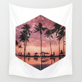 SUNSET PALMS- Geometric Photography Wall Tapestry