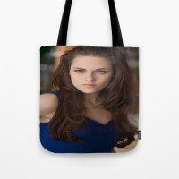 saga Tote Bags featuring Twilight saga by Duitk