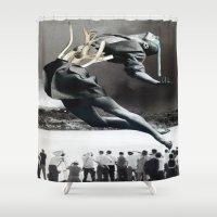 broken Shower Curtains featuring Broken by Oscar Varona