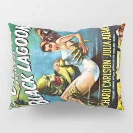 Creature from the Black Lagoon, vintage horror movie poster Pillow Sham
