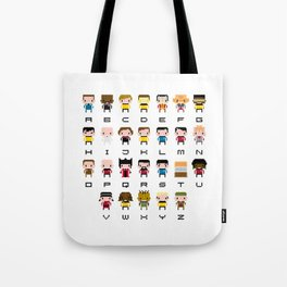 Pixel Star Trek Alphabet Tote Bag