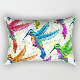 Hummingbirds Multicolors Pattern Rectangular Pillow