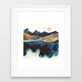 Blue Mountain Reflection Framed Art Print