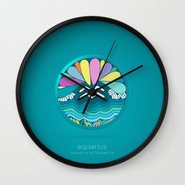 Zodiac Signs aquarius (Horoscope) Wall Clock