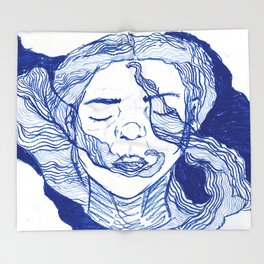 blue dream 2 Throw Blanket