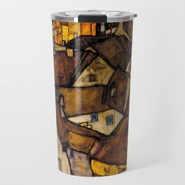 """Egon Schiele """"Krumau - Crescent of Houses (The small City V)"""" Travel Mug"""