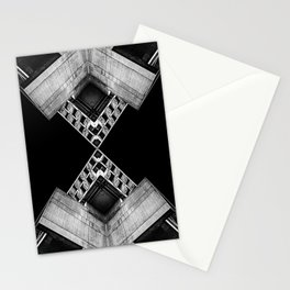 Geometric Concrete Structure Stationery Cards