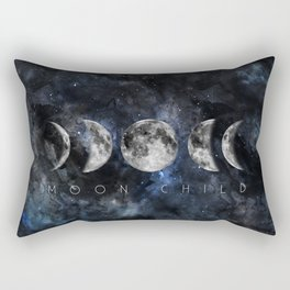 Moon Child Luna Watercolor Rectangular Pillow