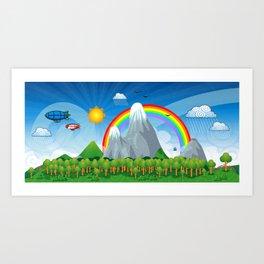 Child fantasy landscape Art Print