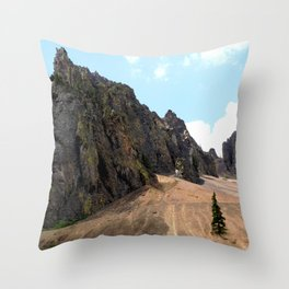 Rocky Crags above the Sunnyside Mill at Eureka Throw Pillow