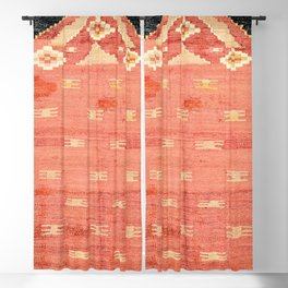 South West Anatolia  Antique Turkish Niche Kilim Print Blackout Curtain