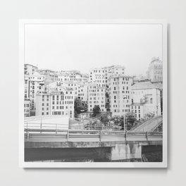 Black&white Genoa Metal Print