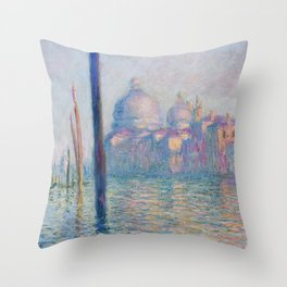 Le Grand Canal by Claude Monet Throw Pillow