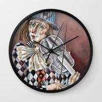 clown Wall Clocks featuring Clown by SilviaGancheva
