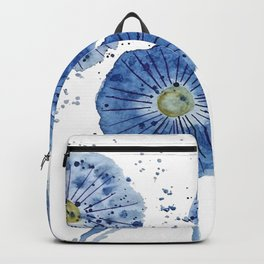 four blue dandelions watercolor Backpack
