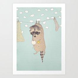 Wasbeer Art Print