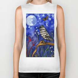 Silver Moon Berries Biker Tank