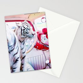 Tigers in the Car Stationery Cards