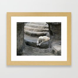 I Wonder if anyone is down There? Framed Art Print