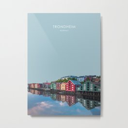 Trondheim, Norway Travel Artwork Metal Print