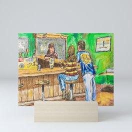 A Night At Point Ybel Mini Art Print