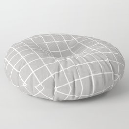 Minimalist Window Pane Grid, Dove Gray Floor Pillow