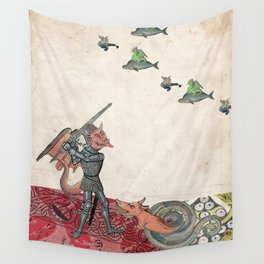Ancient battle (collage) Wall Tapestry