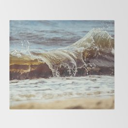 Wave Goodbye to Summer Throw Blanket