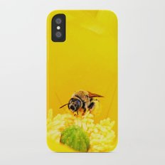 Cactus Flower, Bee and Grasshopper iPhone X Slim Case