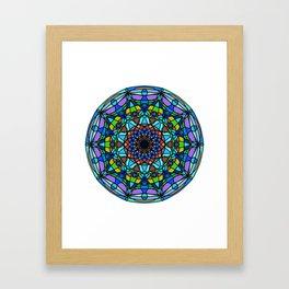 Vector indian Mandala Framed Art Print