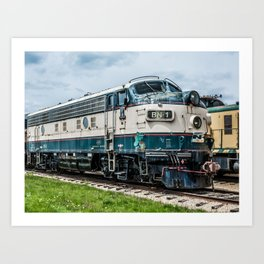 BN-1 EMD Diesel Electro Motive Train Locomotive Vintage Railroad Engine Art Print