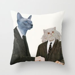 Cat Chat Throw Pillow