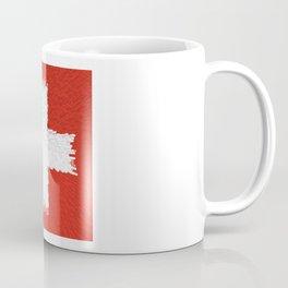 Extruded flag of Switzerland Coffee Mug