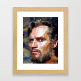 Hollywood - Charlton Heston Framed Art Print