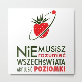 POZIOMKI Metal Print
