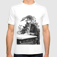 When I think about you, flowers grow out of my brain. White Mens Fitted Tee MEDIUM