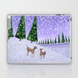 deer in the winter woods Laptop & iPad Skin