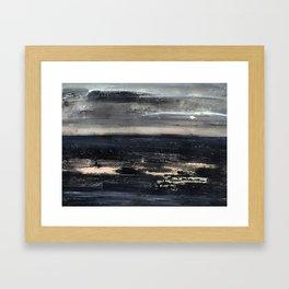 dark sea Framed Art Print
