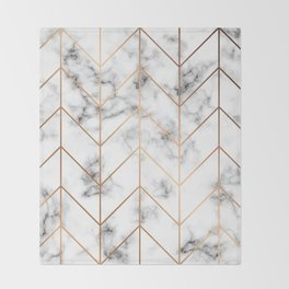 Marble Geometry 057 Throw Blanket