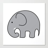 baby elephant Canvas Prints featuring BABY ELEPHANT  by EYE ECHO