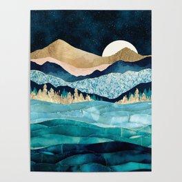 Midnight Ocean Poster
