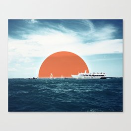 Shipping Sun Canvas Print