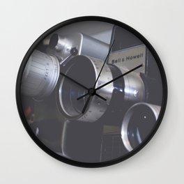 Vintage Video Cameras Wall Clock