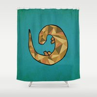 otter Shower Curtains featuring Otter by Jackie Wyant