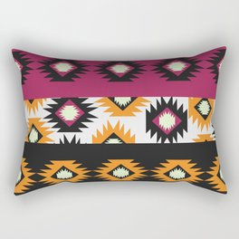 Ethnic shapes in purple and yellow Rectangular Pillow