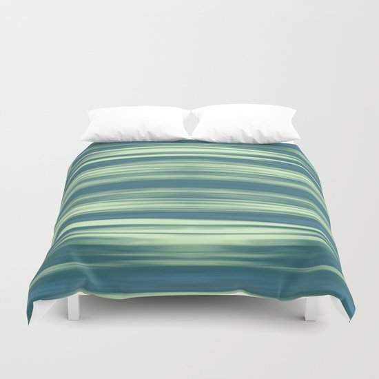 Abstraction Serenity in Afternoon at Sea Duvet Cover